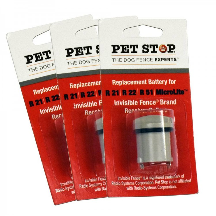 Three Pack Invisible Fence 174 Replacement Battery Pet